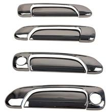 Car exterior door electroplating door handle electroplating handle decorative stickers for Honda Fit city 2003 2004 2005