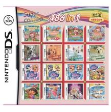 Cartucho de 486 juegos en 1 para Nintendo NDS, NDSL, NDSi, 3DS, 2DS