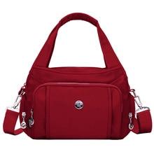 DIZHIGE Brand Large Capacity Waterproof Nylon Shoulder Bag Multi pocket Women Handbag Solid High Quality Crossbody Bag For Women