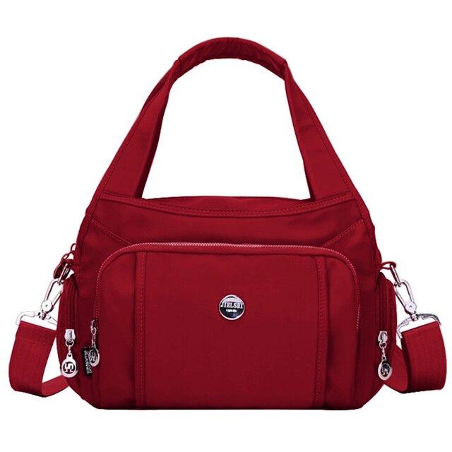 DIZHIGE di Marca di Grande Capienza Impermeabile Borsa A Tracolla In Nylon Multi tasca Borsa Delle Donne Solido di Alta Qualità Crossbody Bag Per Le Donne