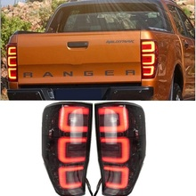 Led Rear Lights Lamp Fit For Ford Ranger T6 T7 XL XLT Pickup Car Tail Lamps Led Turn signal brake reverse lighting 2012 2019 car