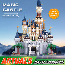 DHL 16008 Movie Toys Compatible With 71040 Cinderella Princess Castle Set Assembly Building Blocks Bricks Kids Christmas Gifts