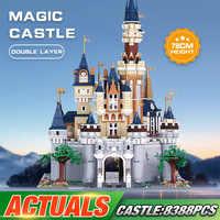 DHL Film Spielzeug Kompatibel Mit Lepining 71040 Cinderella Prinzessin Castle Set Montage Bausteine Ziegel Kinder Weihnachten Spielzeug