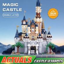 Dhl 16008 filme brinquedos compatíveis com 71040 cinderela princesa castelo conjunto conjunto de blocos de construção tijolos crianças presentes natal