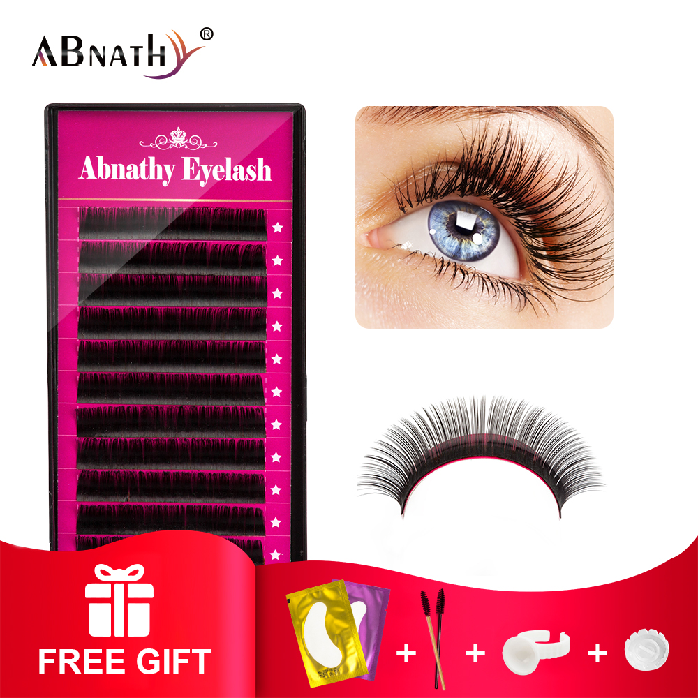 All Size B/C/D/J Curl 1 Trays ,Individual Natural Mink Eyelash Extension Artificial Fake False Eyelashes