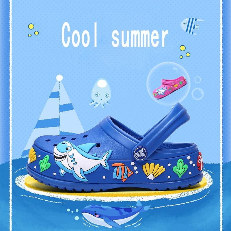 Image 2 - 子供の夏のかわいい漫画のサンダル速乾ビーチ下駄スリッパ軽量ノンスリップ耐摩耗性少年少女スリップオンシューズサンダル   -