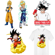 Iron on Transfer Hot Anime DRAGON BALL Patches for Clothing DIY T-shirt Hoodie Kakarotto Patch Termoadhesivos