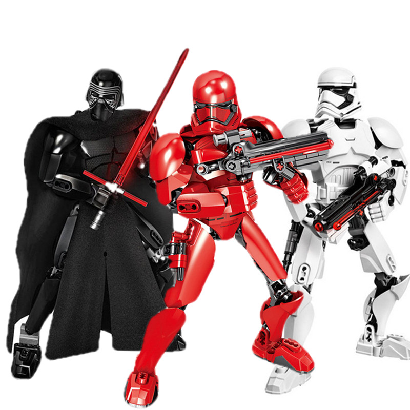 Star Wars Buildable Blocks Stormtrooper Darth Vader Kylo Ren Chewbacca Boba Jango Fett General Grievou Action Figure Toy For Kid