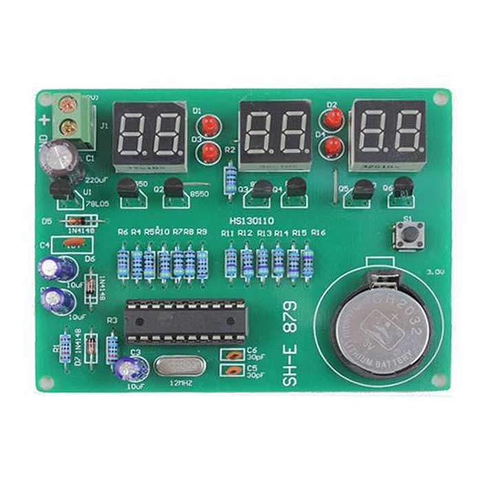 6 Digital AT89C2051 LED Electronic Clock Parts Components DIY Kit Module 9V-12V
