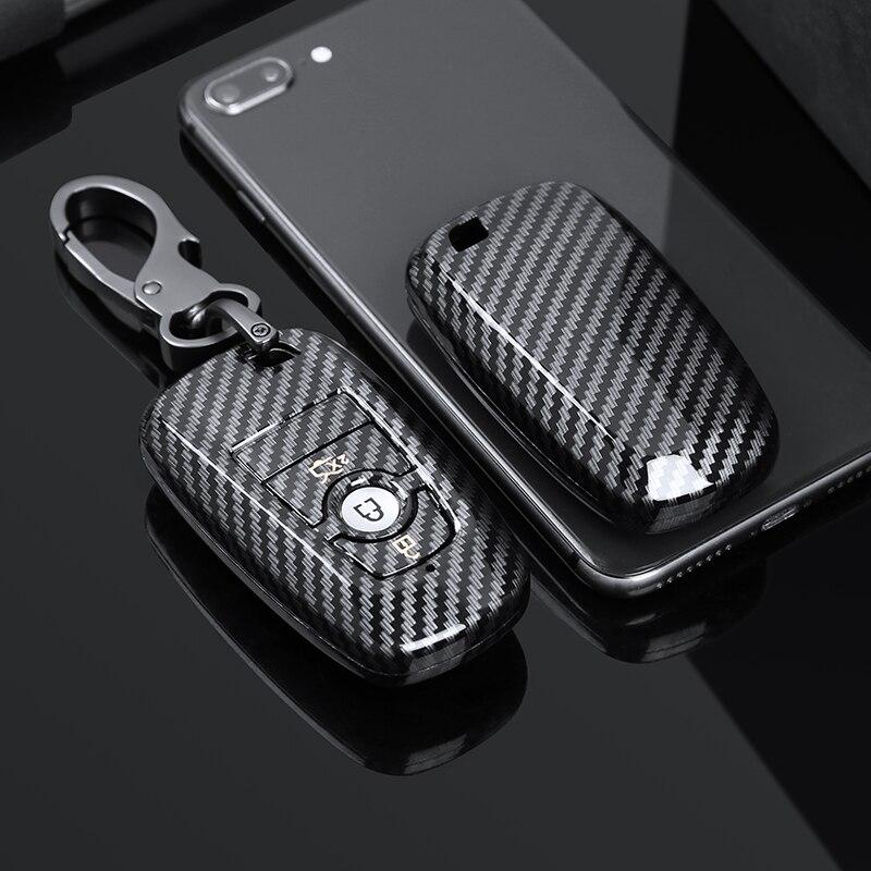 cheapest ABS Carbon Fiber Car Remote Key Case Cover Fob For BMW MINI Cooper S One JCW F55 F56 F54 F57 F60 Clubman Countryman Accessories