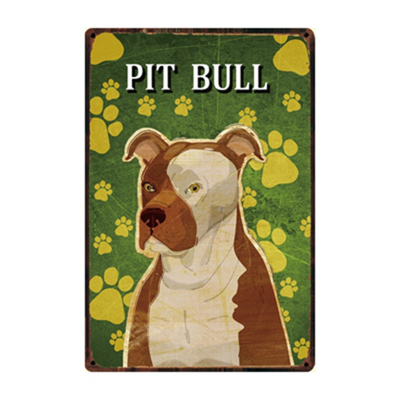 Kelly66 Pets Dog Pit Bull BullDog Great Dane Boxer Metal Sign Tin Poster Home Decor Bar Wall Art Painting 20 30 CM Size Dy89 in Plaques Signs from Home Garden