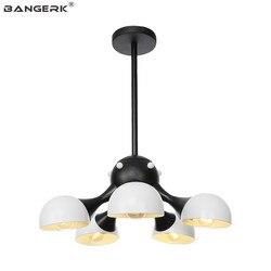 Nordic rocznika lampy wiszące żelaza Loft Decor Retro LED wiszące oprawy oświetleniowe E27 domu jadalnia oświetlenie oprawa Droplight w Wiszące lampki od Lampy i oświetlenie na