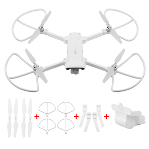 Image 4 - Folding Propeller+ Extended Heighten Leg Tripod+Lens protection cover + protection rings For Xiaomi FIMI X8 SE Drone Accessories