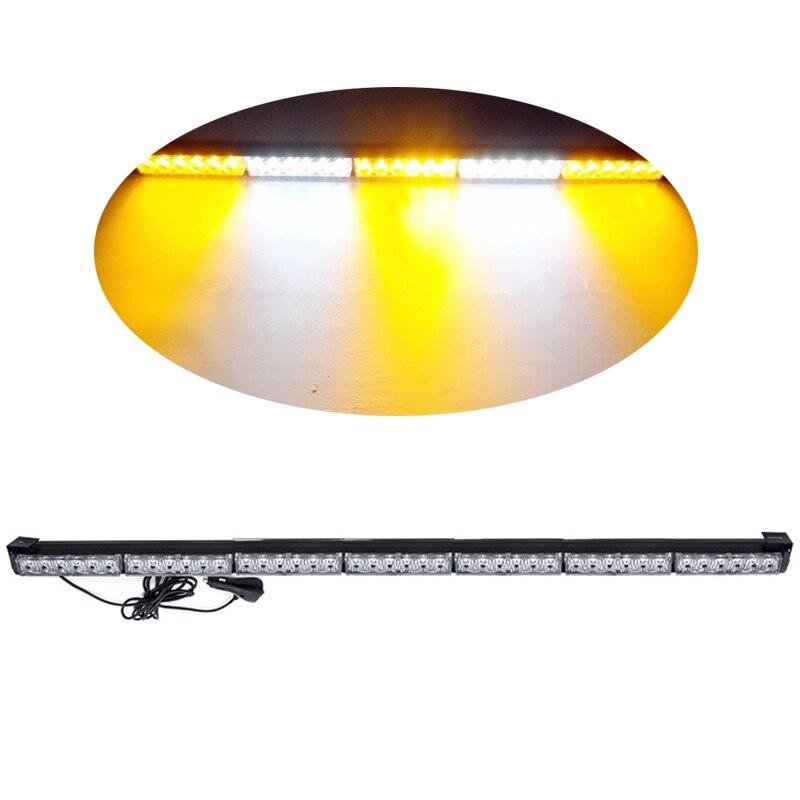 41.3 ''42 LED stroboscope clignotant barre lumineuse d'urgence balise conseiller camion Flash lumière stroboscopique barre d'avertissement
