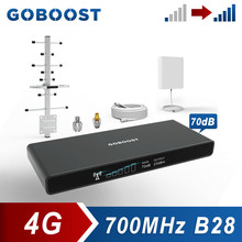 GOBOOST LTE 700 MHz Signal Repeater 4G Band 28 Network Cellular Amplifier Cell Phone Mobile Booster With Antenna 13M Kit