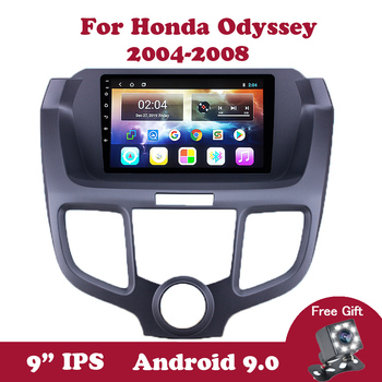 Android 9.0 For Honda Odyssey RB1 2004-2007 2008 Auto Car Radio 9 inch 2.5D With Canbus GPS Navigation Multimedia Stereo Player элемент салона capqx 05 06 rb1