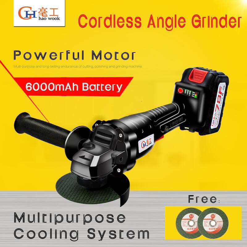 Cordless Winkel Grinder 20V Lithium-Ionen 6000mAh Schleifen Maschine Schneiden Elektrische Winkel Grinder Schleifen Power Tool für startseite DIY