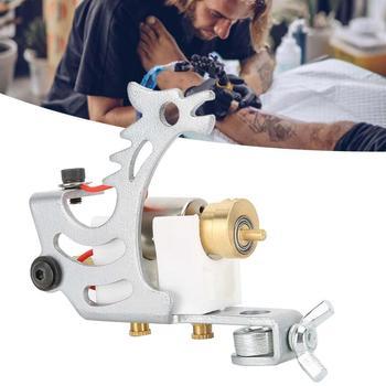 Zestaw do tatuażu silnik maszynka do tatuażu potężna moc urządzenie do tatuażu ze stopu dla artystów tatuażu srebrny obrotowy zestaw do tatuażu tanie i dobre opinie CN (pochodzenie) as show Tattoo Gun Instrukcja