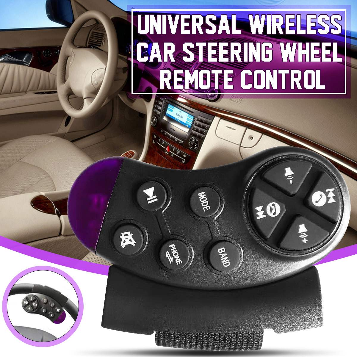 Universal Car Steering Wheel Remote Control Button Key for Car Navigation DVD Multimedia Music Player Android Car Radio Hot Sale