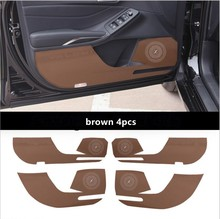 Car Door Protectors Cover Anti Kicking Mat Pad For Toyota Avalon 2019 2020 Interior Accessories