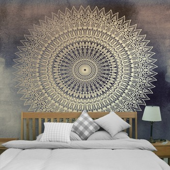Printed Lotus Tapestry Bohemia Boho Mandala Tapestry Wall Hanging Wall Decoration Hippie Tapestry Beach Towel Yoga 5sizes TAP211 3