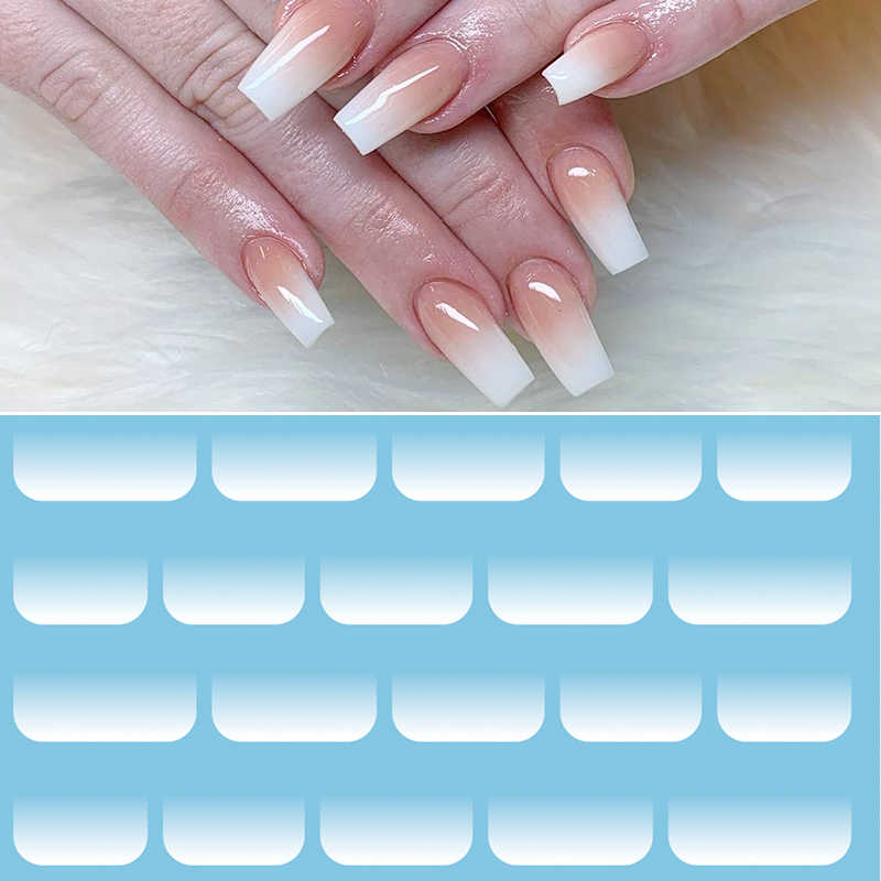 1 Pc Opaal Jelly Water Decals Mooie Eiwit Wit Gradiënt Sticker Verse Transfer Stickers Natuur Nail Art Wrap Decoratie