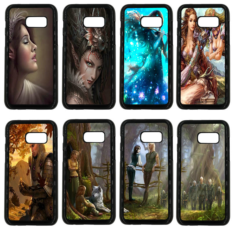 For Samsung Galaxy A3 A5 A7 A8 2015 2016 2017 2018 Note 8 5 3 2 Shell Fantasy Elf Girl Phone Cases Hard Plastic Anti-knock Cover image