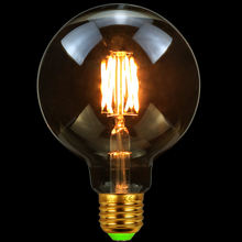 Tianfan светодиодный Винтаж Эдисон лампы g95 Глобус Стиль Янтарный
