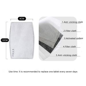 Image 5 - Unisex Anti haze Mouth Masks Anti PM2.5 Respirator Dustproof Cotton Mouth Face Mask with 2pcs Filters Valve Dust Safety Mask