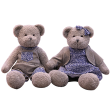 Cute Couple Teddy Bear Plush Toy Stuffed Animal Doll, Boy Girl Toy Pillow, Kids Birthday Gifts цена