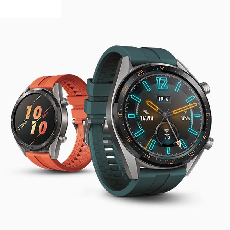 22mm Strap For Huawei Watch GT/GT2 46mm Sport Silicone Strap Samsung Galaxy Watch Gear S3 Frontier Amazfit Gts Strap Bracelet 46