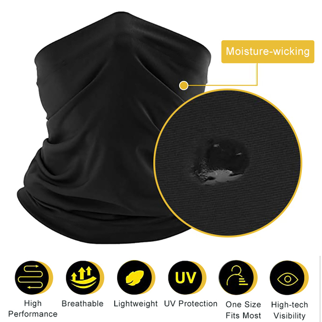6PCS Balaclava Tube Motorcycle Neck Face Mask Scarf Bicycle Hunting Outdoor Ride Bandana Headband Cool Face Shield 3