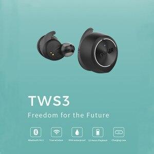Image 2 - EDIFIER TWS3 TWS gerçek kablosuz Bluetooth V4.2 kulak içi kulaklık ile şarj kutusu ve çıkarılabilir kulak kanatları çok fonksiyonlu düğme
