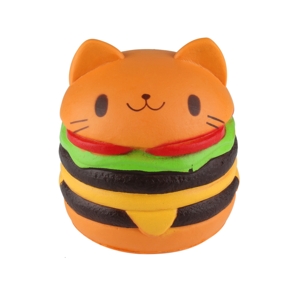 Squishy Toy Hamberger Cat Slow Rising Antistress Toy Soft Squeeze Cute Stretchy Toy Gift Wholesale