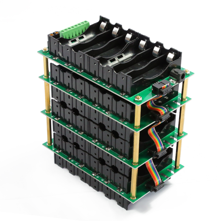 12V 18650 power wall 3s battery pack 3S battery Box 3S bms li-ion battery Li-ion Lithium 18650 BMS PCB board DIY 40A 80A image