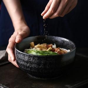 Image 3 - Японская миска для рамен, большая Бытовая керамическая миска, миска для лапши и супа, креативная миска для лапши мгновенного приготовления, коммерческая столовая посуда для ресторана