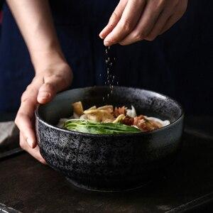 Image 3 - Cuenco ramen japonés grande de cerámica para el hogar, tazón de sopa de fideos, cuenco para fideos instantáneos, vajilla de restaurante comercial