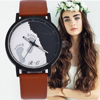 reloj de mujer grande  Quartz Watch Fashion Leather Wristwatch Women Men Simple Wristwatches Saat Relogio Feminino Bayan Kol
