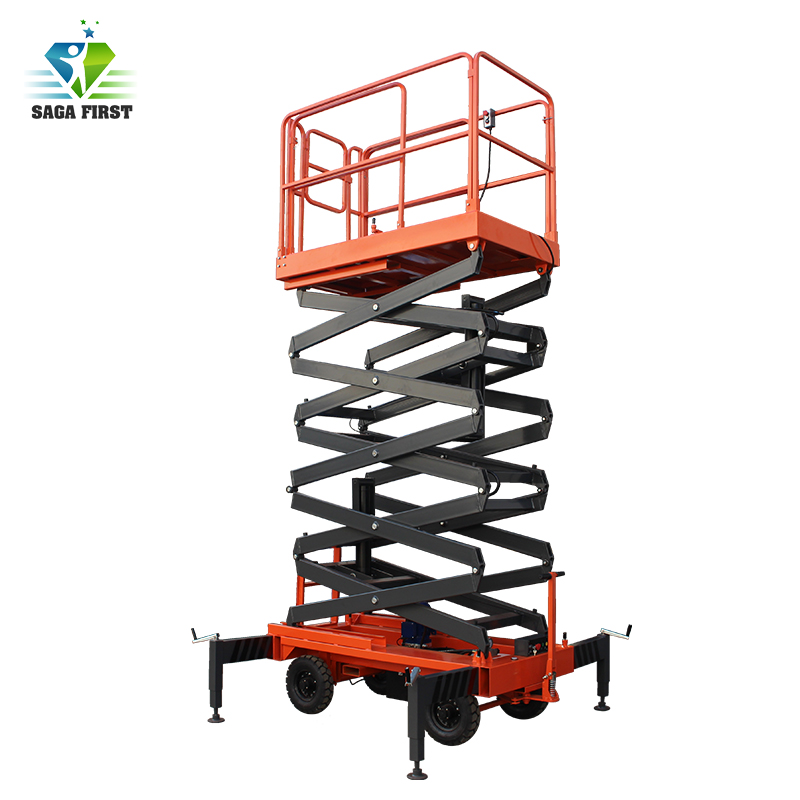 Hydraulic Mobile Scissor Lift Aerial Work Platform/movable Scissor Lift