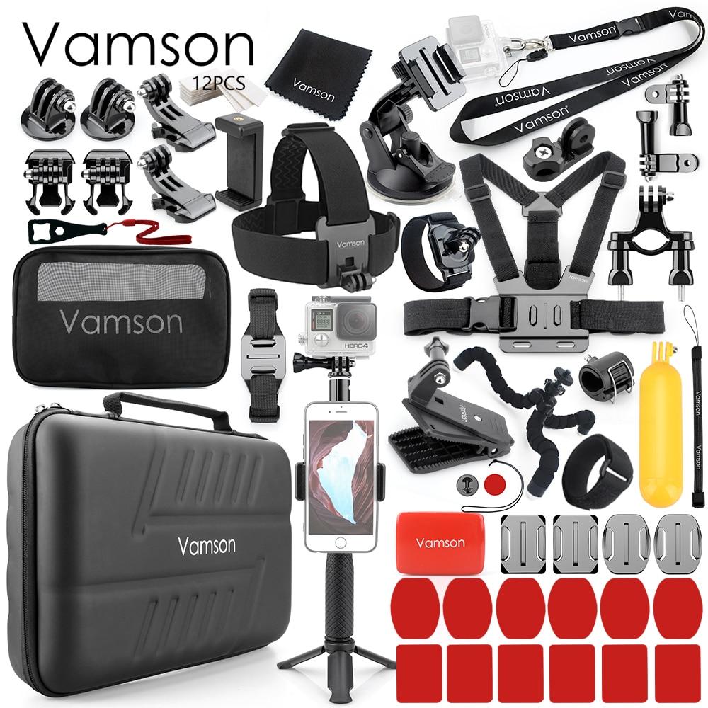 Vamson for DJI OSMO Action for Gopro Hero 7/6/5 Black Camera Accessory set for Xiaomi yi4K Tripod Accessories Kit VS59