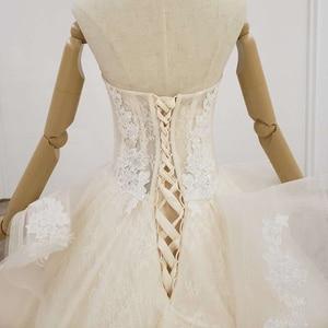Image 5 - HTL1200 tüll hochzeit kleid 2020 liebsten applique pailletten kristall lace up prinzessin cut hochzeit kleider neue vestido de casamento