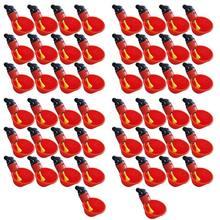 50pcs Xícaras de Frango Rega Automática, Quintais de Plástico Alimentador De Água Frango, Aves Beber Copos de Água Tigelas, estilo flutuante Feed