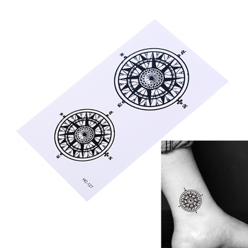 Waterproof Temporary Tattoo Sticker Black Butler Contract Symbol compass anime tatto flash tatoo fake tattoos for men women image