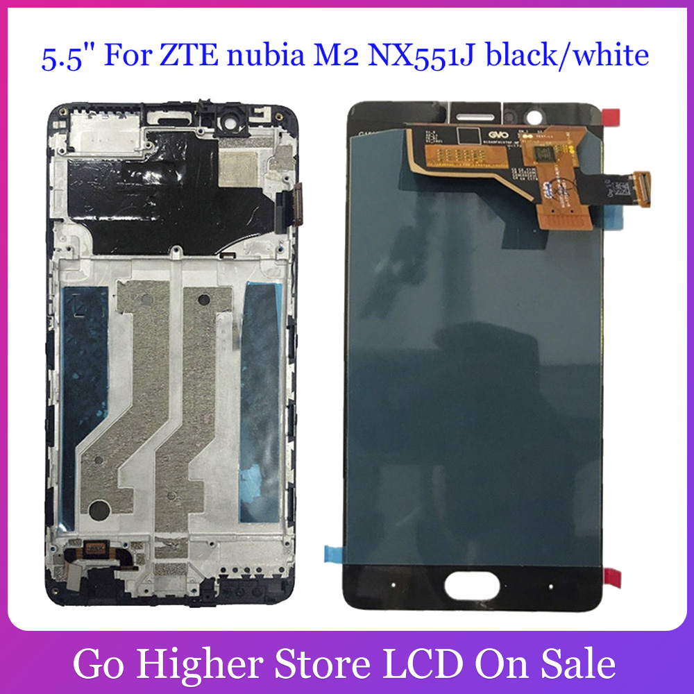 5.5'' Lcd For ZTE Nubia M2 <font><b>NX551J</b></font> LCD Display Digitizer Screen Touch Panel Glass Sensor Assembly + Tools image