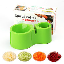 Vegetal spiralizer vegetal espiral cortador de batata cortador de salada de abobrinha espiralizador acessórios de cozinha gadgets de cozinha keuken