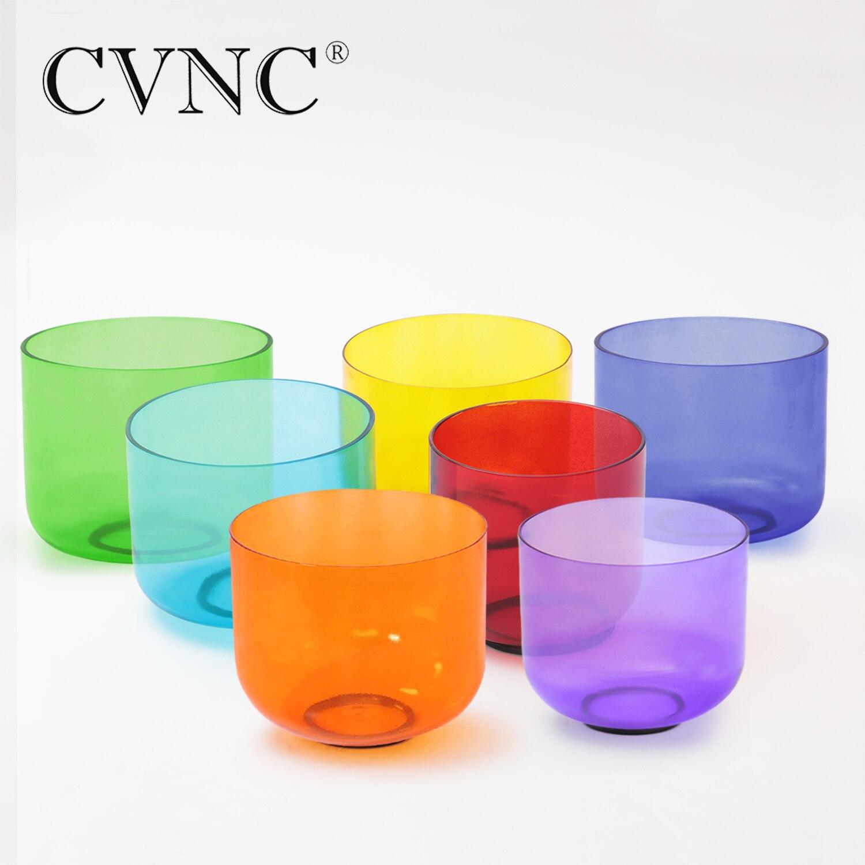 """CVNC ensemble de 7 pièces 7 """"couleur cristal clair Quartz bol chantant"""