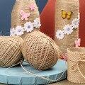 1 мм 100 м/рулон, винтажные плетеные шнуры из натурального джута, домашний текстиль «сделай сам», ремесла ручной работы, товары, веревки, декор ...