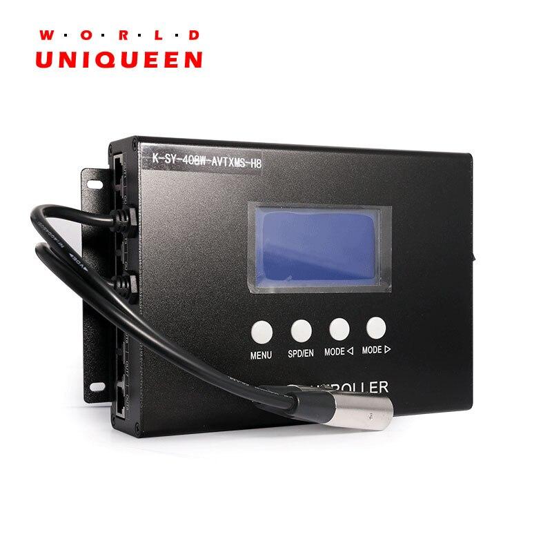 職業プログラマブルピクセルライトコントローラ K-SY-408 、 8CH 出力 8192 ドットサポート、音声と音楽制御機能