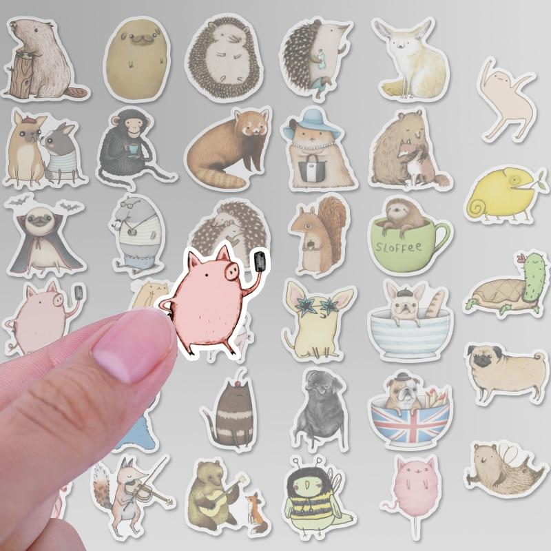 Image 2 - 73 шт. милые этикетки аниме наклейки дневник ручной работы клейкая бумага хлопья японская наклейка Скрапбукинг Канцелярские наклейки s-in Наклейки from Игрушки и хобби
