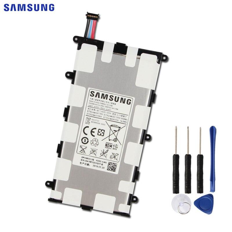 SAMSUNG Original Ersatz Batterie SP4960C3B Für Samsung GALAXY Tab 7,0 Plus P3110 P3100 P6200 P6210 Tablet Batterie 4000mAh